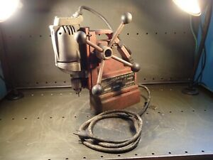 Milwaukee 4200 4250 1 115v Magnetic Base Mag Drill Press 1 2 Capacity Used Good