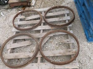4 Model T Outer Rings For Wood Spoke Wheels