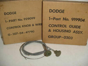 Wwii Dodge Military 1 2 3 4 Ton Wc Truck Choke Or Throttle Cable Nos