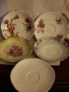 Vintage Fine Bone China Tea Cups Saucers Lot Of 7 An Extra Mystery Saucer