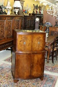 English Mahogany Antique Bar Cabinet