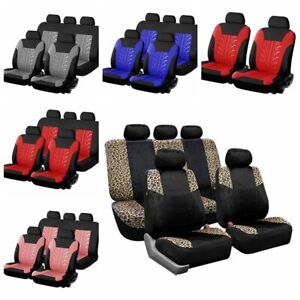 Car Seat Cover Universal Seat Cover Soft And Comfortable Leopard Print Black Red