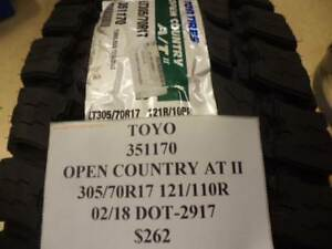 2 Toyo Open Country At Ii 305 70 17 121 110r Brand New Pair 351170 Q8