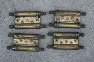Lot Of 4 Vintage Antique Brass Door Hinges Double Acting 8 1 4 X 4
