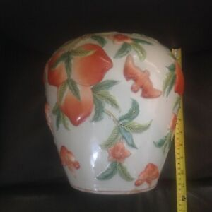 Chinese Famille Rose Peaches And Bats Vase Reduced 200
