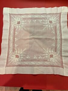 Antique Lace Exquisite Hanky Handkerchief W Whitework Needle Lace Wedding