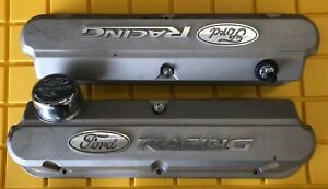 Proform 302 137 Tall Valve Cover Gray Fits Small Block Ford Racing 2 Pc