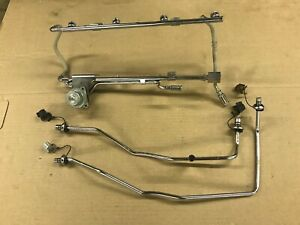 87 93 Ford Mustang Factory Fuel Rails Extensions W Regulator Efi 302 Stock Oe