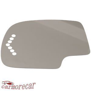 New Power Mirror Glass Driver Side For Chevy Gmc Sierra Truck Suv Turn Signal
