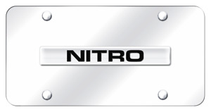 Dodge Nitro Name Chrome On Chrome Plate Stainless Steel License Plate