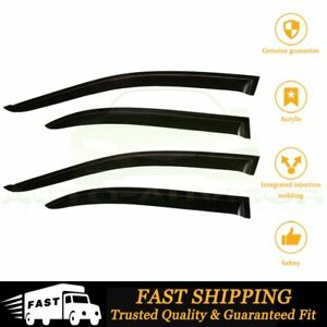 For 2003 2005 Toyota Corolla 3d Wavy Style New Window Vent Deflector Black