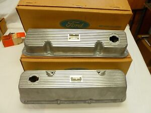 1970 Nos Boss 302 Ford Mustang And Cougar Valve Covers Pair C9zz 6582 c