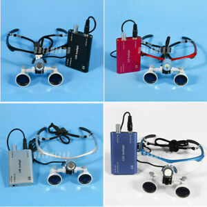 3 5x420 Dental Loupes Surgical Binocular Loupe Magnifying Glasses Led Light Oem