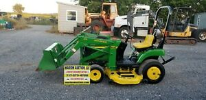 2003 John Deere 2210 Compact Loader Tractor W mower Only 230 Hours