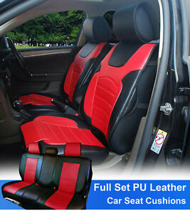 Full Sets Leather Like Auto Car Seats Cushion Covers For Toyota 80255 Bk red