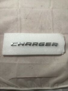 06 10 Dodge Charger Rear Lid Trunk Chrome Emblem Logo Badge Sign Oem 07 08 09
