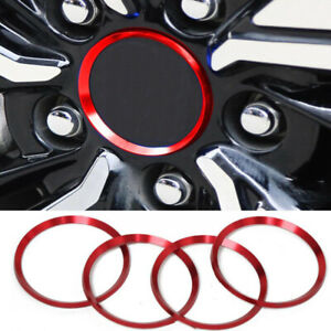 For Toyota Camry 2018 2019 Wheel Center Hub Decor Ring Red Aluminum Accessories