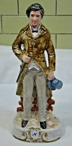 Capodimonte Porcelain 12 75 Figure Of Gentleman Signed 057