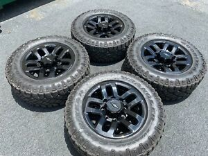18 Chevrolet Silverado 2500 3500 Truck Black Wheels Rims Tires Factory Oem 5709