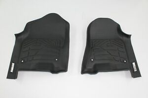 Custom Black Front Floor Mats For 2019 2020 Dodge Ram 1500 Crew Quad Cab