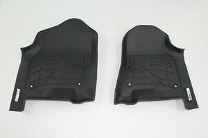 Custom Black Front Floor Mats For 2019 Dodge Ram 1500 Crew Quad Cab