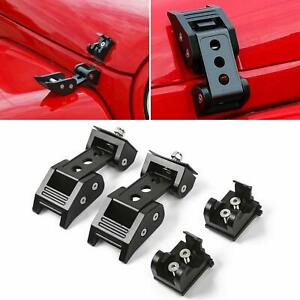 2pcs Hood Latch Locking Catch Buckle For Jeep Wrangler Jk Unlimited Parts Rt
