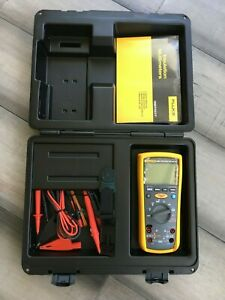 Fluke 1587 Insulation Multimeter With Clamps Meter Hanging Kit And Case