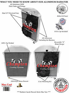 3 Row Jr Radiator W 2 10 Fans For 1939 Chevy Ja Master Deluxe Chevy V8 Conv