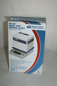 Usps 10 Lb Desk Top Postal Scale Extra Large Lcd Digital Electronic Nib
