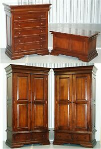 Rrp 3600 Barker Stonehouse Grosvenor Bedroom Suite Wardrobes Drawers Chest