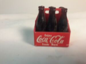Vintage Miniature Coca Cola 6-Pack Bottles ~Rare New Coke A-2