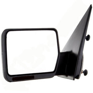 Left Driver Side For 04 06 Ford F150 Pickup Truck Black Manual Side Mirror