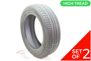 Set Of 2 Used 245 55r19 Toyo Open Country A20 103s 8 5 9 5 32