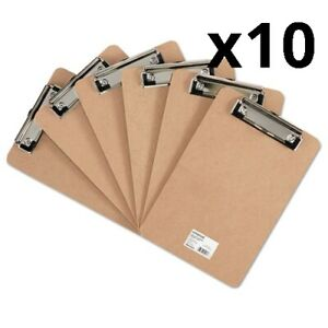 Hardboard Clipboard With Low profile Clip 1 2 Capacity 6 X 9 Brown 6 pk