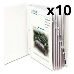 Sheet Protectors With Index Tabs Clear Tabs 2 11 X 8 1 2 8 st Pack Of 10