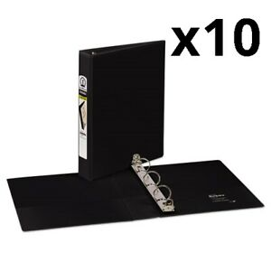 Mini Size Durable View Binder W round Rings 8 1 2 X 5 1 2 1 Cap Black