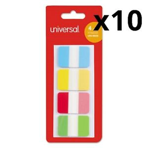 Self Stick Index Tab 1 Assorted Colors 100 pack Pack Of 10