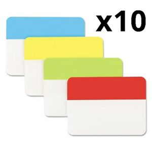 Self Stick Index Tab 2 Assorted Colors 40 pack Pack Of 10