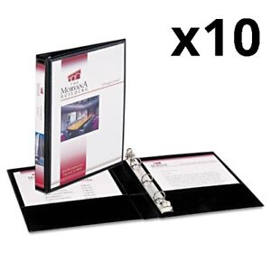 Mini Size Durable View Binder W round Rings 8 1 2 X 5 1 2 1 2 Cap Black