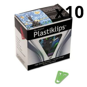 Plastiklips Paper Clips Large no 6 Assorted Colors 200 box Pack Of 10
