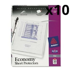 Top load Sheet Protector Economy Gauge Letter Clear 50 box Pack Of 10