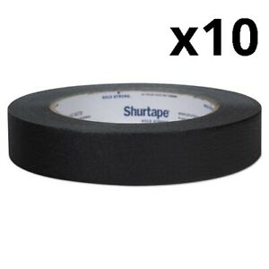 Color Masking Tape 3 Core 0 94 X 60 Yds Black Pack Of 10