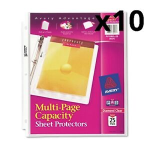 Multi page Top load Sheet Protectors Heavy Gauge Letter Clear 25 pack