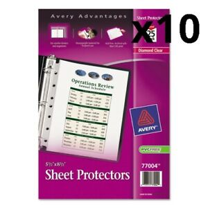Top Load Sheet Protector Heavyweight 8 1 2 X 5 1 2 Clear 25 pack Pack Of 10