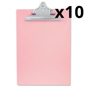 Recycled Plastic Clipboard With Ruler Edge 1 Clip Cap 8 1 2 X 12 Sheets Pink