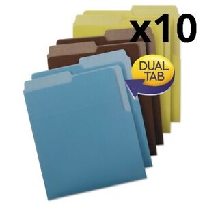 Organized Up Heavyweight Vertical File Folders Assorted Earth Tones 6 pack