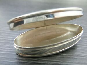 Vintage Sterling Silver Oval Pill Smaller Box