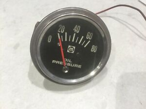 Vintage Oil Pressure Gauge Used