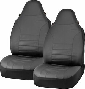 Bell Automotive Products Universal Bucket Seat Cover Sport Leather Black 40410
