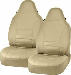 Bell Automotive Products Universal Bucket Seat Cover Sport Leather Tan 40348